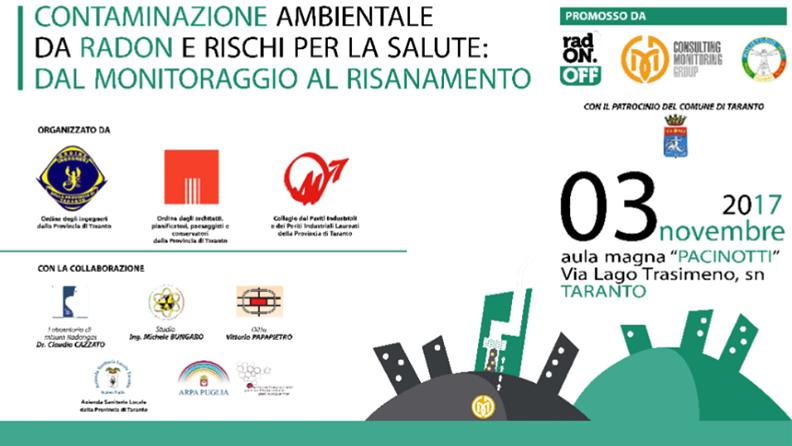CONTAMINAZIONE AMBIENTALE DA RADON  e RISCHI PER LA SALUTE: DAL MONITORAGGIO AL RISANAMENTO @ Istituto Tecnico Industriale Statale  | Taranto | Puglia | Italia